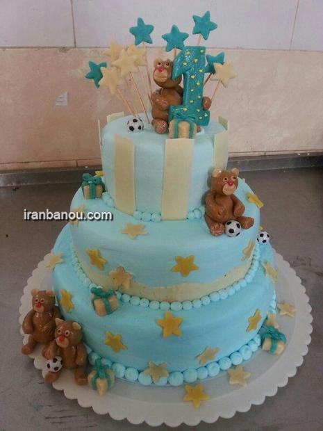 عکس کیک تولد عاشقانه,عکس کیک تولد ساده