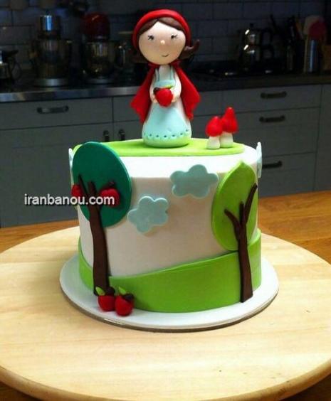 کیک تولد دختر توت فرنگی,کیک تولد سوفیا