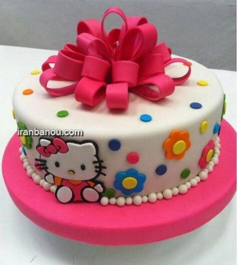 کیک تولد دخترانه جدید, کیک تولد زیبا برای بزرگسال