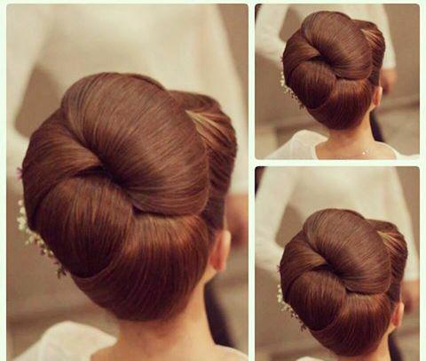 مدل شینیون ساده با موی کوتاه