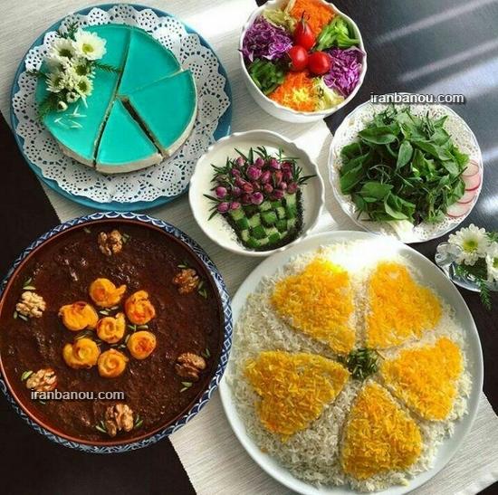 عکس غذاهای مجلسی ایرانی
