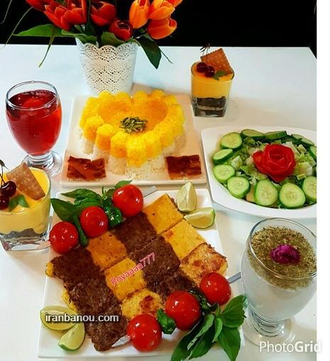 عکس غذاهای تزیین شده