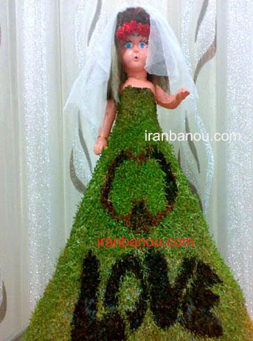 مدل سبزه عید با عروسک