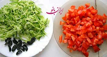 تزيين سالاد با طرح هندوانه, تزیین هندوانه, هندوانه شب یلدا, تزیینات شب یلدا, تزیین شب چله ,تزیین سالاد به شکل هندوانه