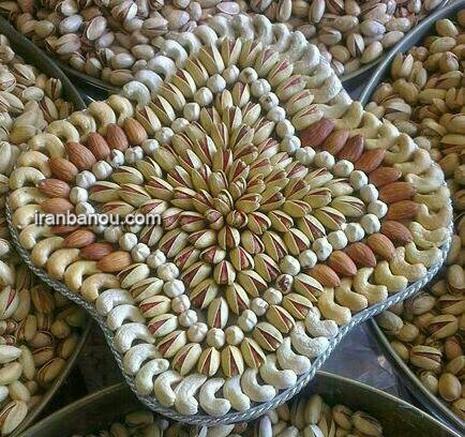 تزیین آجیل عید برای عروس