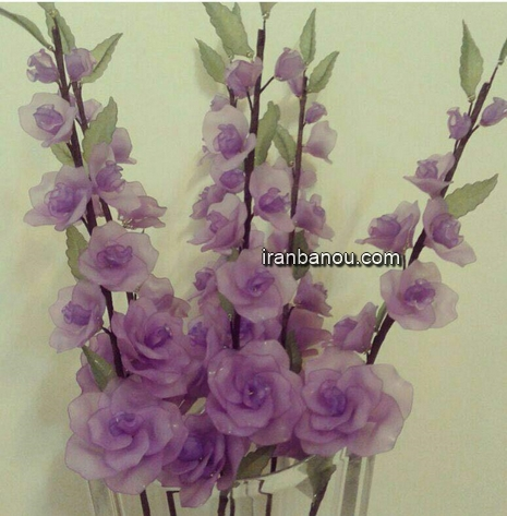 مونتاژ گل کریستال ساده مدل گل کریستال