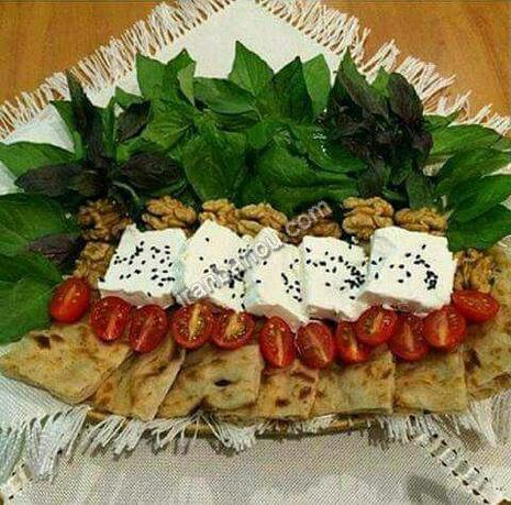 تزیین نان و پنیر و سبزی - سری ششم