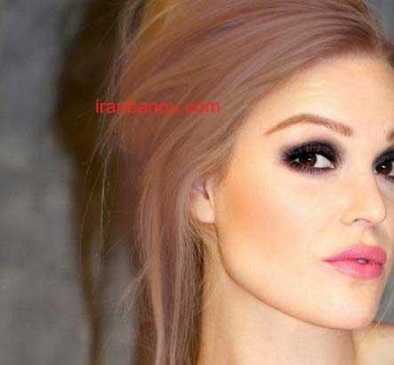 عکس رنگ مو صورتی