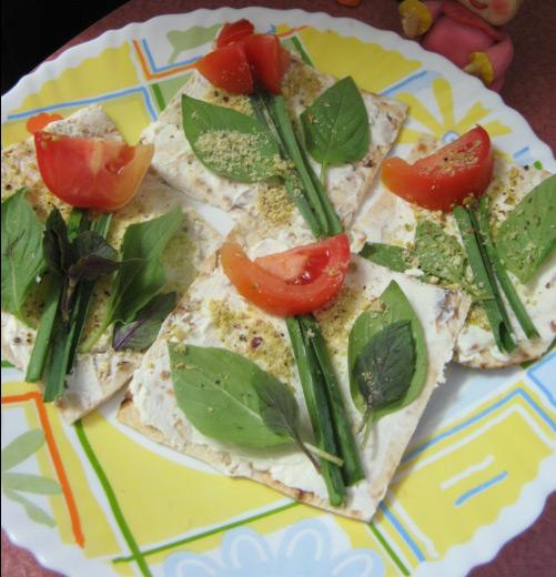 پنیر و سبزی افطار