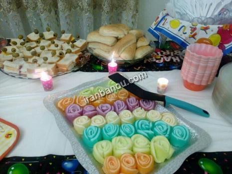 نمونه هایی زیبا از تزیین میز شام تولد پورتال جامع ایران بانو