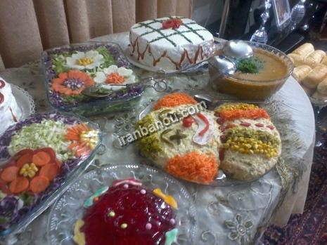 کیک به شکل سبزه عید نمونه هایی زیبا از تزیین میز شام تولد