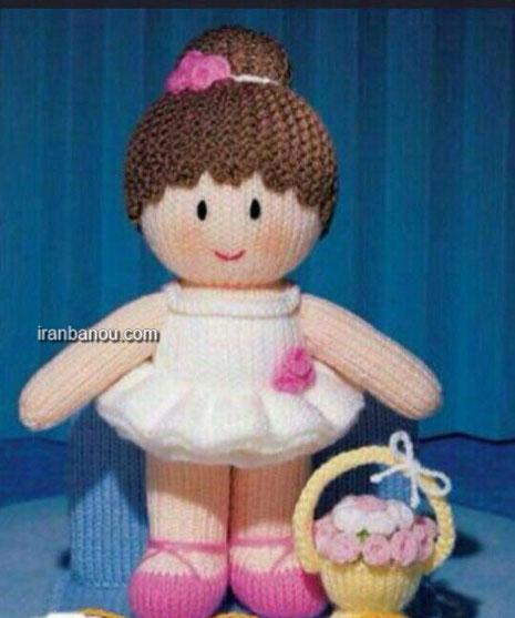 آموزش سبزه روی دامن عروسک آموزش بافت عروسک بالرین دختر