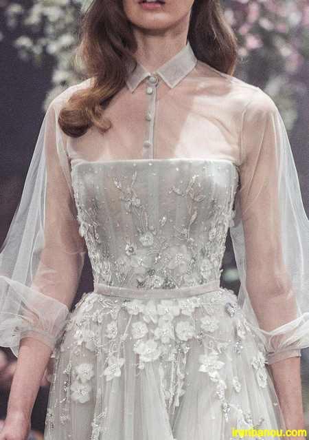 لباس مجلسی بلند  لباس مجلسی شیک گیپور