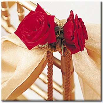تزیین صندلی عروس و داماد