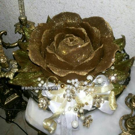 عروس داماد قلاب بافی 60 مدل تزیین حنا عروس و داماد با مروارید و گل طبیعی ...