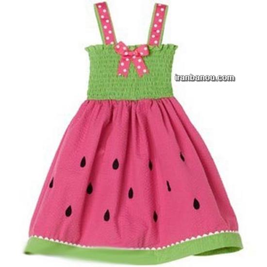 لباس هندوانه ای نوزاد