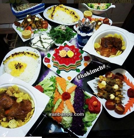 عکس غذاهای تزیین شده ایرانی