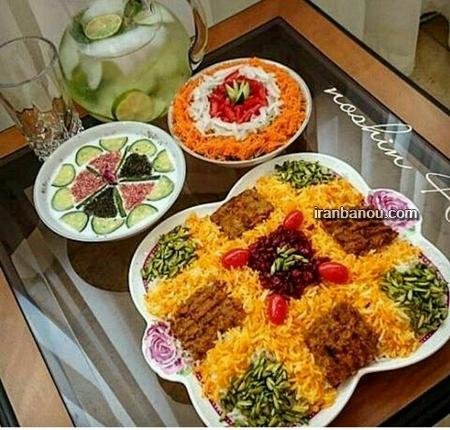 عکس تزیین غذا های خوشمزه ایرانی