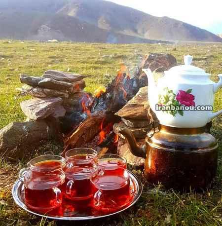 عکس صبح بخیر با چایی