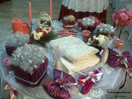 تزیین وسایل عیدی برای عروس