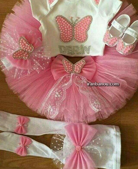 مدل لباس نوزاد دختر بهاره
