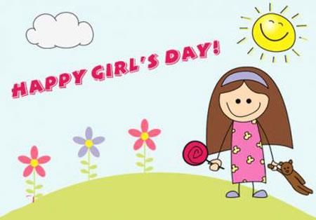کارت تبریک روز دختر, کارت پستال تبریک روز دختر