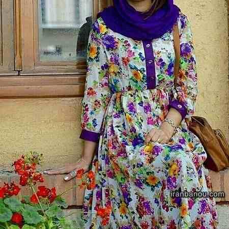 مدل مانتو تابستانی با پارچه نخی گلدار