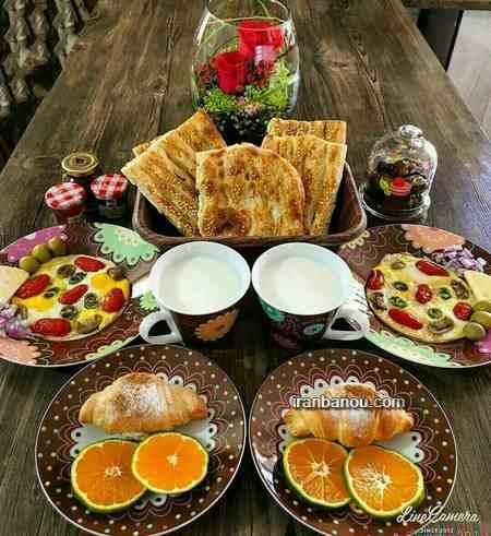 تزیین صبحانه کودک برای مدرسه