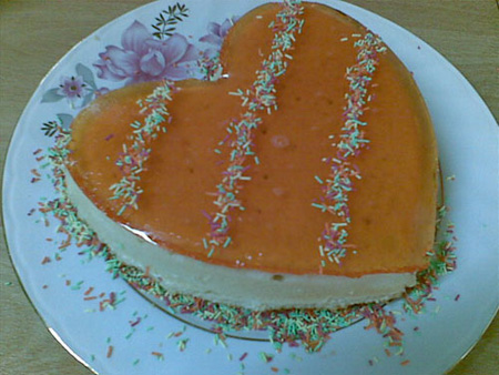 تزیین کیک اسفنجی با میوه, تزیین کیک اسفنجی با ژله