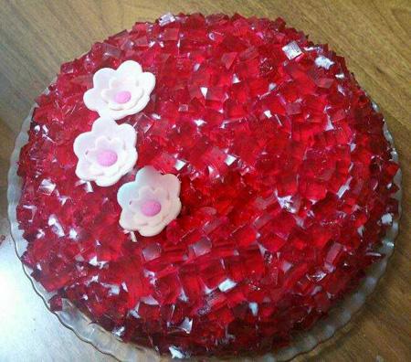 تزیین کیک با ژله, تزیین کیک تولد با ژله