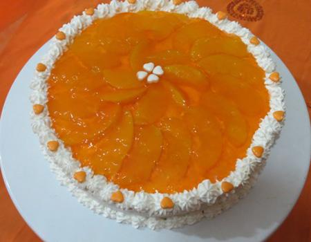 تزیین کیک تولد,تزیین کیک اسفنجی با میوه