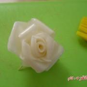 آموزش گل با شلغم برای تزیین سالاد (6)