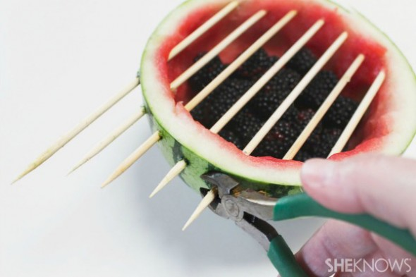 تزیین هندوانه یلدا به شکل گریل