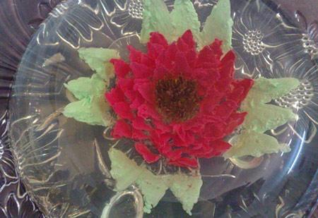 درست کردن ژله تزریقی،آموزش تصویری ژله تزریقی،ژله آلوورا،ژله تزریقی به شکل گل،آشپزی و تغذیه