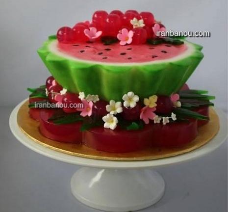 کیک با هندوانه