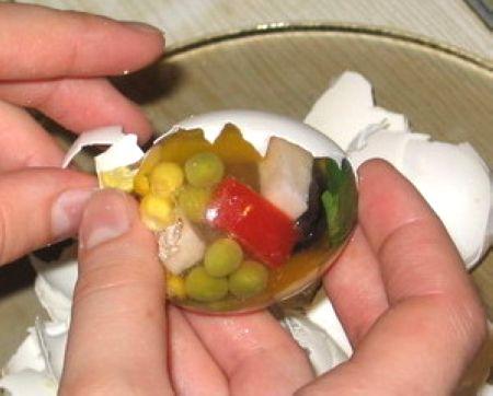 ژله تخم مرغی،درست کردن ژله،ژله،هنر در خانه