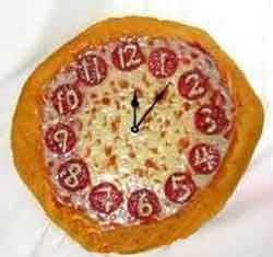 پیتزا به شکل ساعت,طرز تهیه پیتزا به شکل ساعت