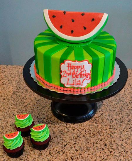 تزیین کردن کیک به شکل انار, تزیین کردن کیک