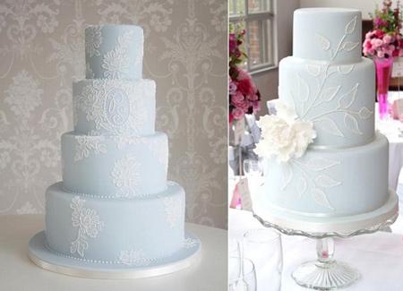 کیک عروسی به رنگ آبی, کیک های عروسی زیبا
