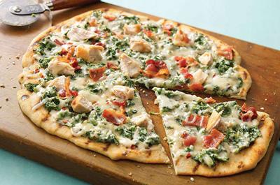 پیتزای سبز با ماهی,طرز تهیه پیتزای سبز با ماهی