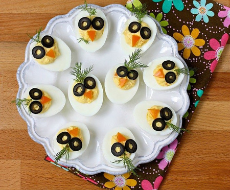 تزیین صبحانه کودکان, تزیین تخم مرغ برای بچه ها