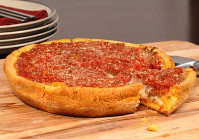 پیتزا شیکاگو,طرز تهیه پیتزا شیکاگو