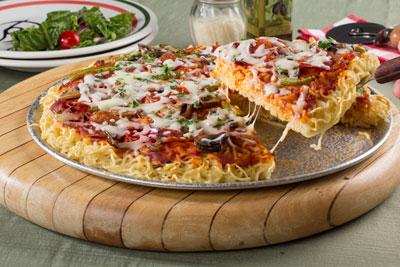 پیتزا نودل بدون فر,طرز تهیه پیتزا نودل بدون فر