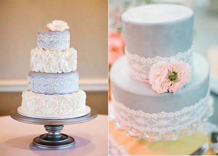 تزیین کیک های عقد و عروسی,کیک عروسی به رنگ های ملیح