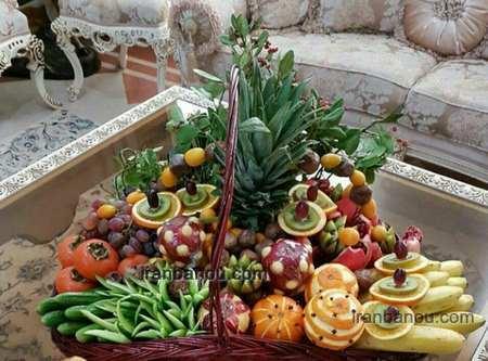 تزیین سبد میوه عروس