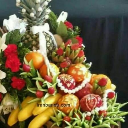 تزیین سبد میوه عیدی عروس
