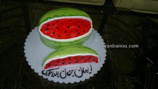 آموزش کیک هندوانه