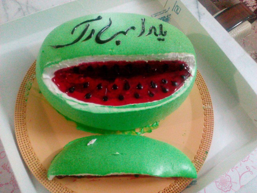 طرز تهیه کیک هندوانه شب یلدا