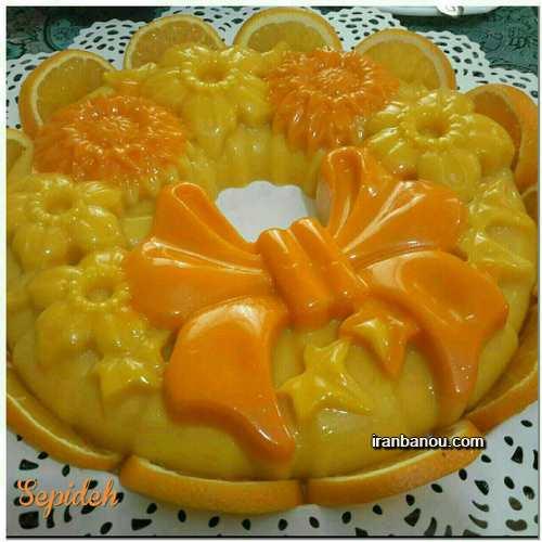 طرز تهیه فروماژ پرتقال