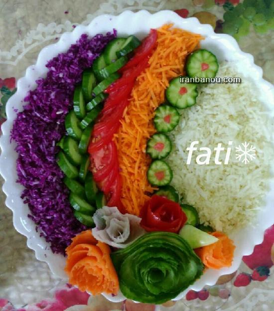 کیک به شکل سبزه عید تزیین سالاد کاهو سری ششم